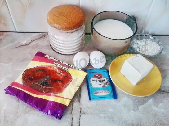ингредиенты для заварного крема
