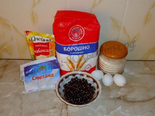 ингредиенты для кекса со смородиной