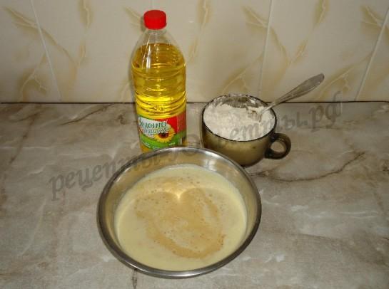 пошаговый фото рецепт дрожжевого теста для пирожков и булочек 5
