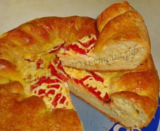 домашняя пицца фото рецепт
