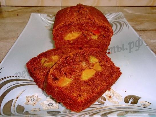 кекс с персиками 11