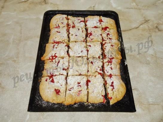 тертый пирог с вишней фото 12