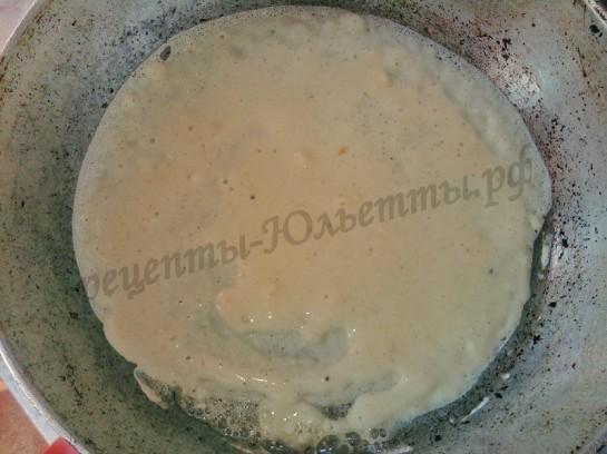 торт поленница с вишней из блинчиков (12)