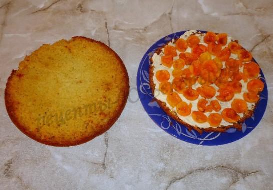 торт с абрикосами фото 6