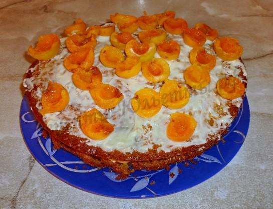 торт с абрикосами фото 7