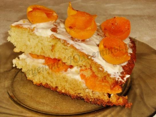 торт с абрикосами фото