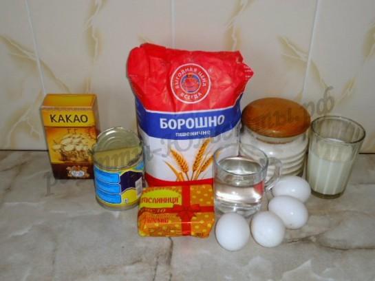 ингредиенты для заварных пирожных с кремом