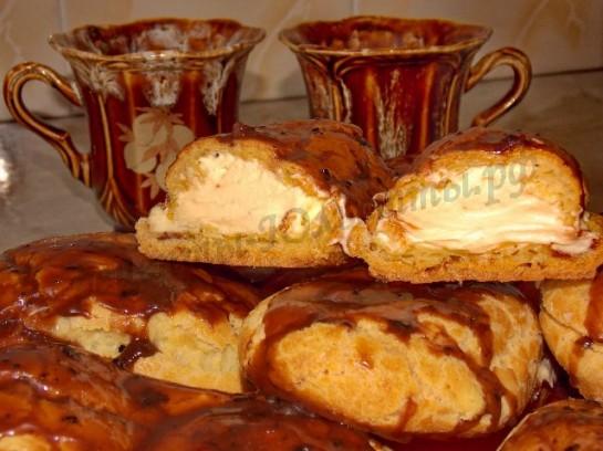 рецепт заварных пирожных