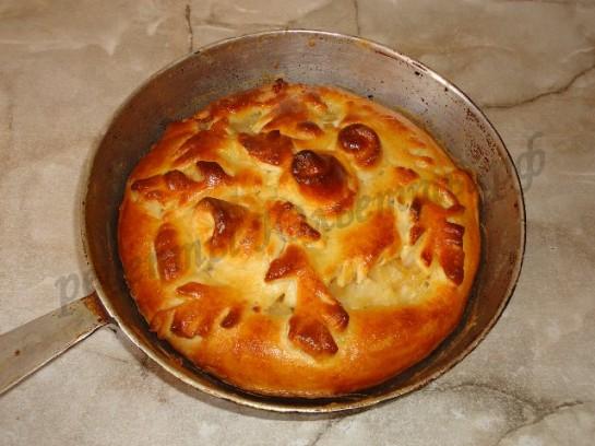 яблочный пирог из дрожжевого теста 11