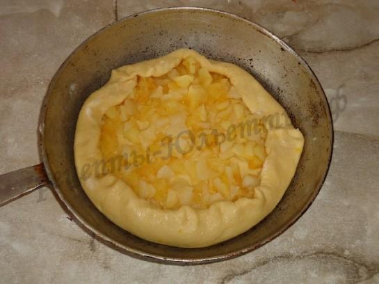 яблочный пирог из дрожжевого теста 6