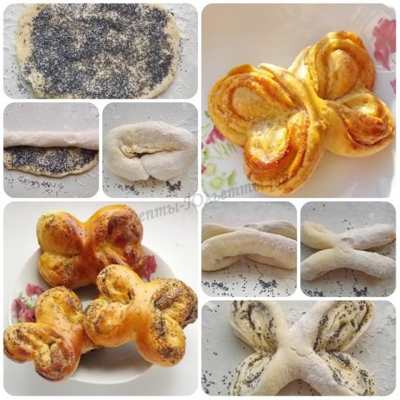 Как сформовать красивые, необычные булочки из сдобного теста: часть 2