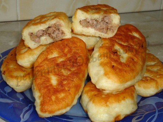 жареные пирожки с мясом с фото