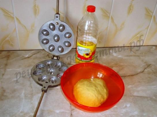 орешница и тесто