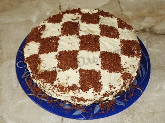 рецепт торт шахматный с фото