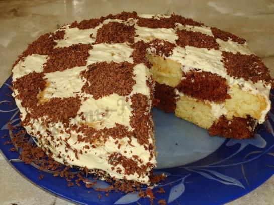 рецепт шахматного торта
