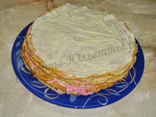 блинный торт с фото 5