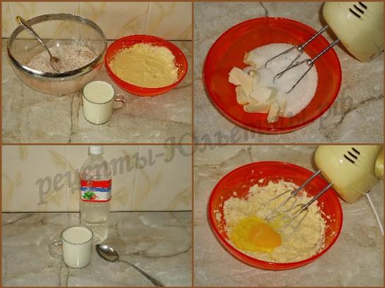 приготовим пахту и масляную смесь