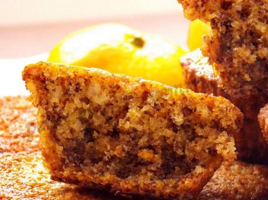 мандариново-ореховые кексы