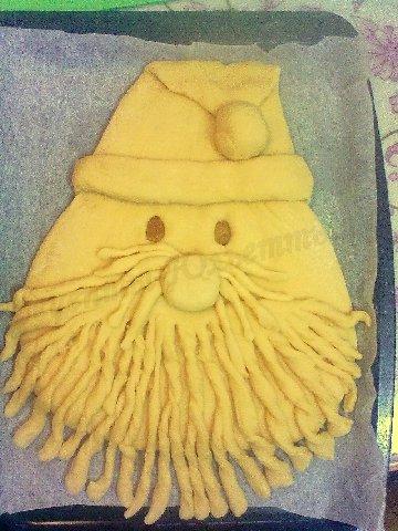 новогодний пирог Дед Мороз 3