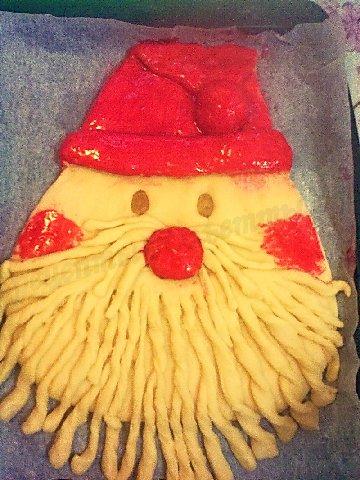 новогодний пирог Дед Мороз 4