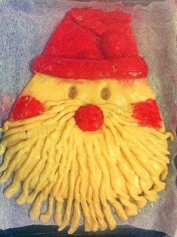 новогодний пирог Дед Мороз 5
