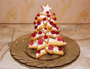 новогодний пирог ёлка фото