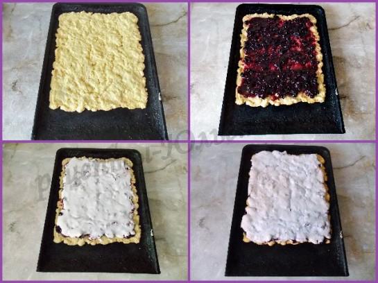 как сделать пирожные из песочного коржа с вареньем