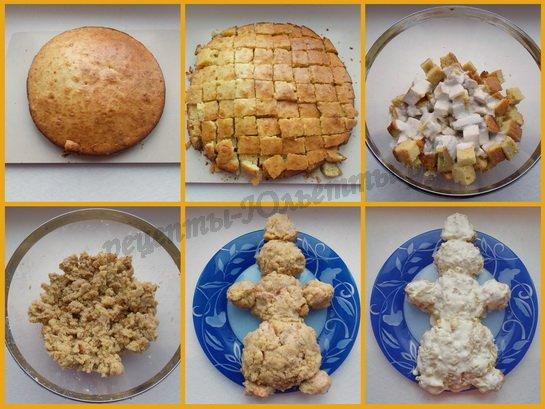 торт снеговик фото 3