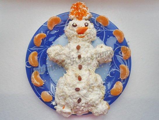 торт снеговик фото