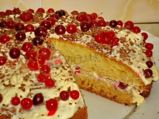 торт с клюквой фото