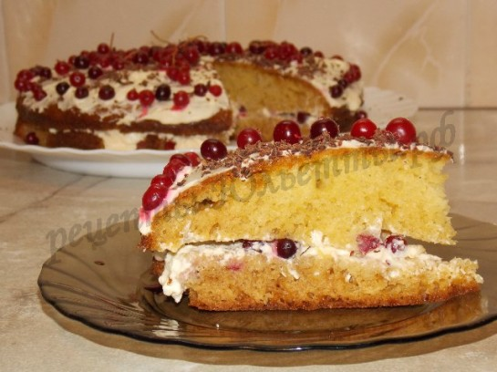 торт с клюквой фото 13
