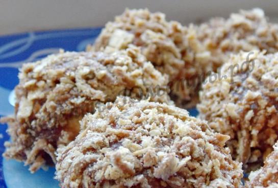 каштаны домашнее песочное печенье фото