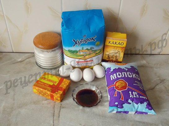 ингредиенты для медовика с заварным кремом