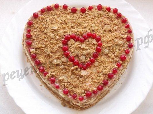 торт в виде сердца