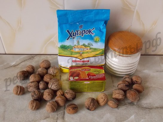 ингредиенты для печенья кольцо песочное с орехами