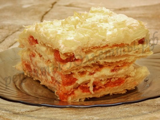 Торт с вишней из слоеного теста рецепты