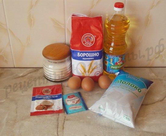 ингредиенты для толстых блинчиков