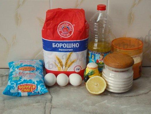 ингредиенты для теста на блинчики