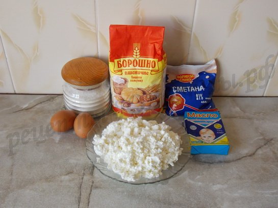 ингредиенты для чизкейка с творогом