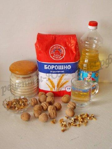 ингредиенты для орехового кекса