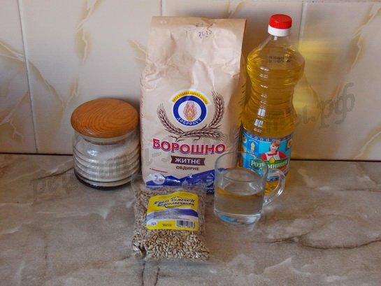 ингредиенты для ржаных кексов