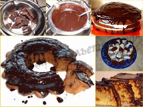 Как сделать глазурь для торта из шоколада