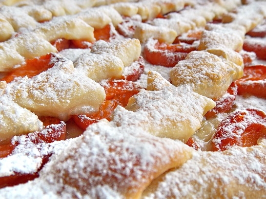 дрожжевой абрикосовый пирог