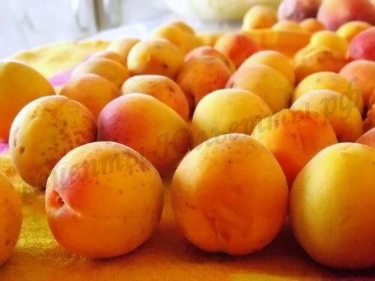 моем и обсушиваем абрикосы