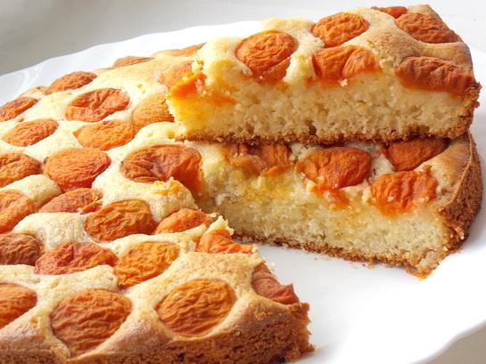 пирог манник с абрикосами рецепт