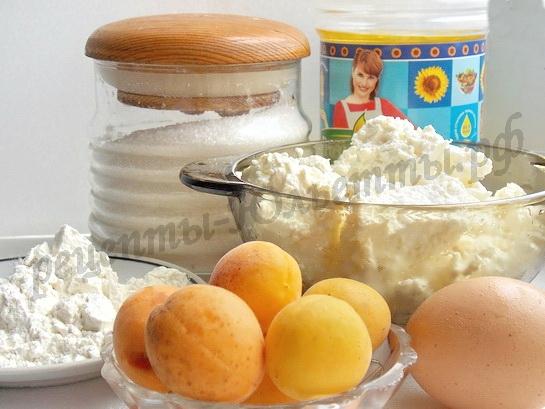 ингредиенты для сырников с абрикосами