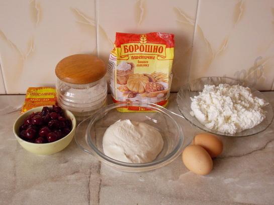 ингредиенты для чизкейка с вишней