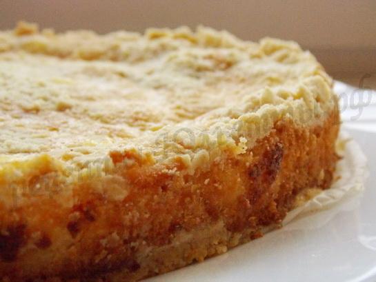 песочный пирог с творогом готв
