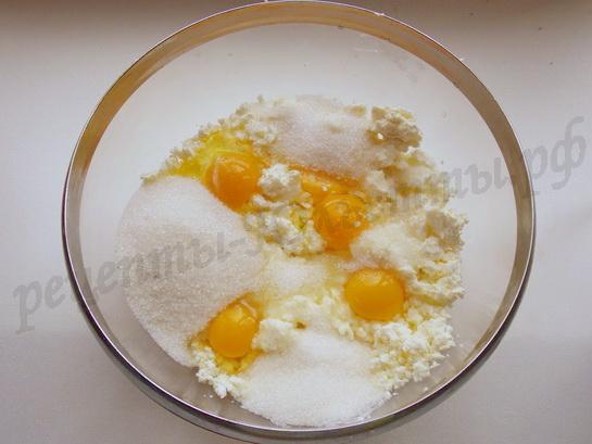 готовим творожную начинку для песочного пирога