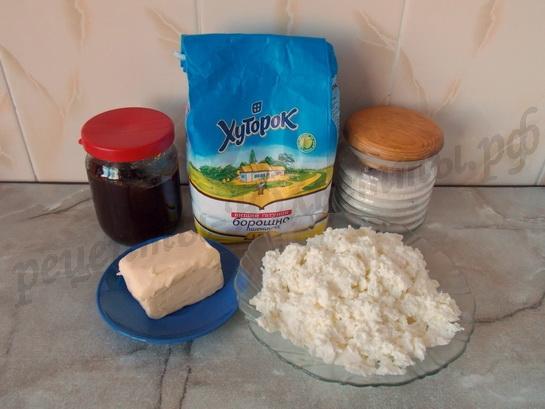 ингредиенты для творожных рогаликов